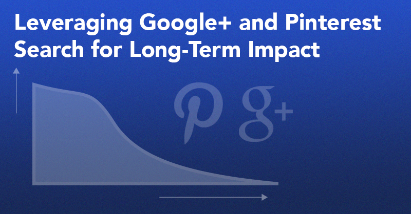 Leveraging Google+ and Pinterest Search for Long-Term Impact