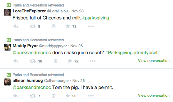 Parks and Recreation Retweets