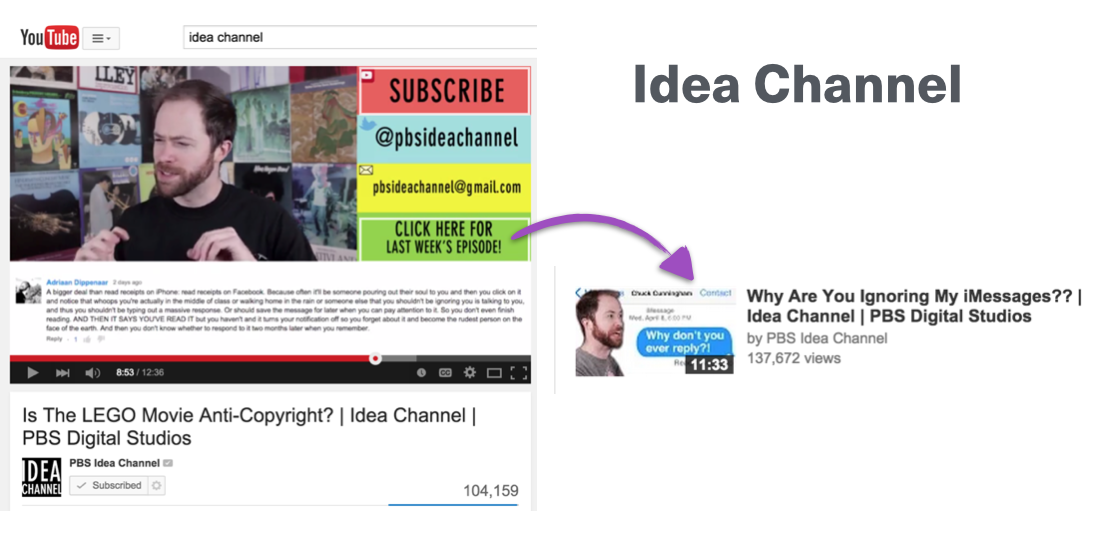 Idea Channel Example