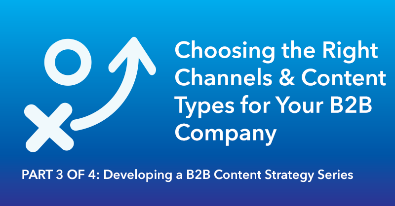 Choosing the Right Channels & Content Types for Your B2B Company via brianhonigman.com