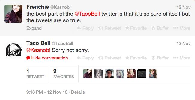 Taco Bell Tweet