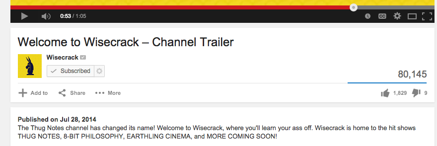 Wisecrack Channel Trailer