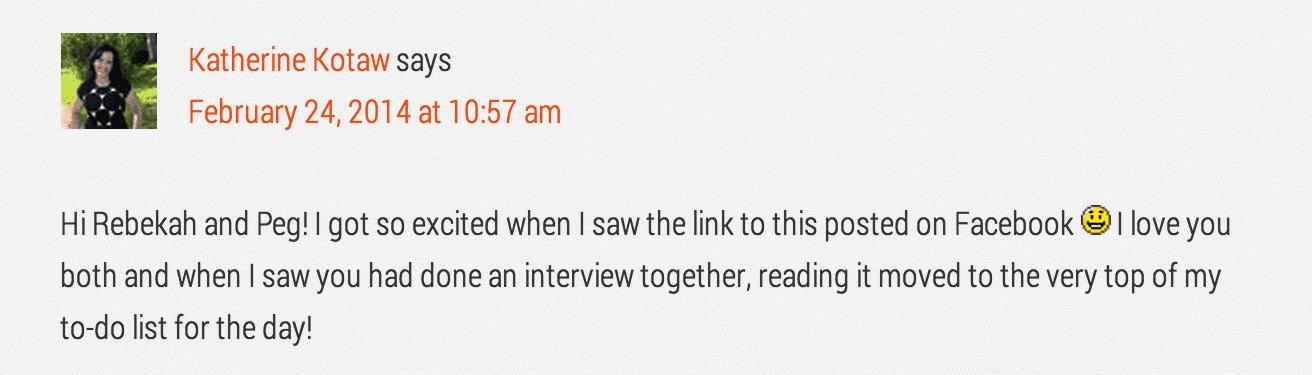 Interview comment