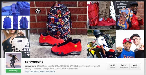 Sprayground Instagram