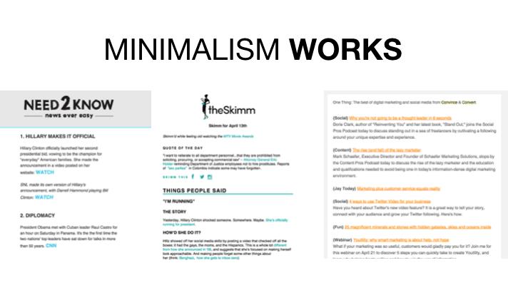 Minimalism Works
