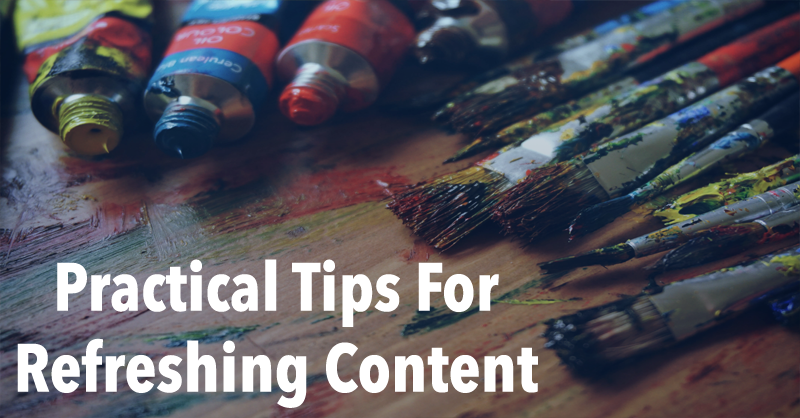 Guidelines for Periodically Updating Your Content via BrianHonigman.com