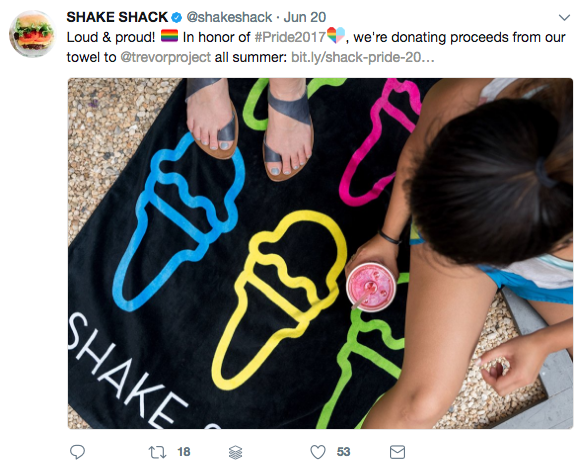 Shake Shack Tweet Example