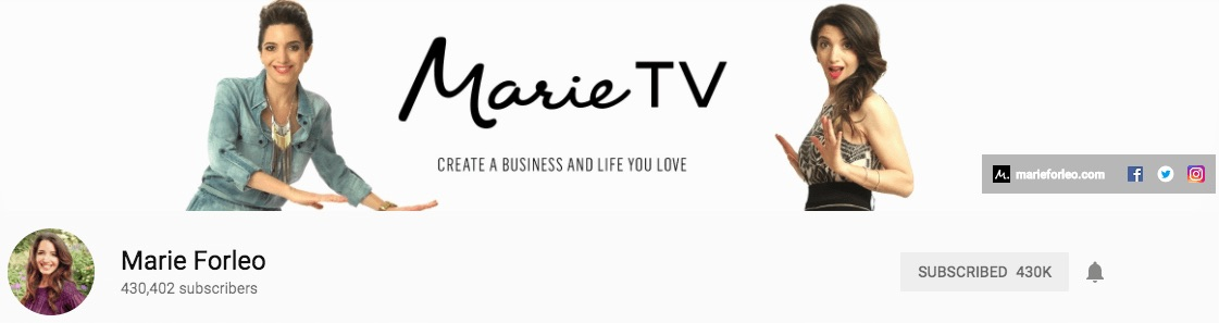 Marie Forleo YouTube Banner