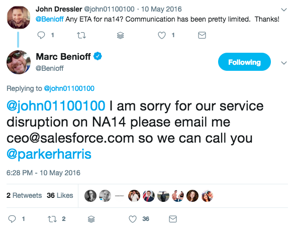 Marc Benioff Twitter Apology Example